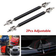 2Pcs Carbon fiber Look Car Front Bumper Lip Splitter Strut Tie Bar Support Rod