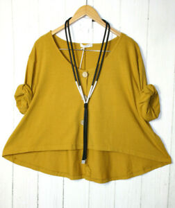 Moonshine Jacke Blazer Shirt  50 52 54 Oversize Gr 3 Lagenlook Gelb Neu