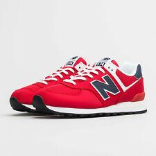 Scarpe sportive uomo New Balance ML574SCH Rosso-Blu-Bianco textile suede