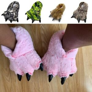 Safe Funny Slippers Claw Paw Slippers Toddlers Kids Indoor Winter Bedrooom Warm