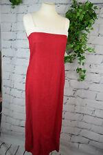 LEINEN - KLEID rot weiß ✿ Gr. S Midikleid ✿ Made in Italy