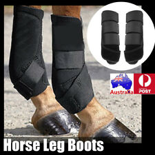 2x 26x8cm Black HORZE Pile Lined BOOTS Leg Protection Horse Riding Care Grooming