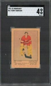 1951 PARKHURST HOCKEY #61 TERRY SAWCHUK RC SGC 4 VG-EX HOF ROOKIE