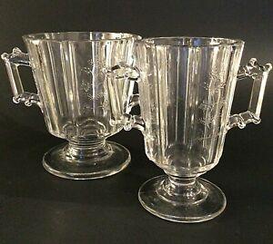 EAPG BRYCE HIGBEE GLASS CELERY VASE TABLEWARE RIVAL INDIAN TREE ANTIQUE 1883
