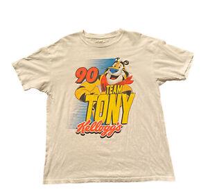 Kellogs Tony The Tiger White T-Shirt Size Large