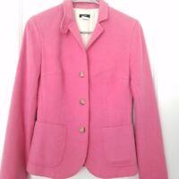 J Crew Womens Blazer Wool Cashmere Blend Jacket Pink XS Tall Preppy
