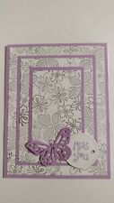 Handmade MISS YOU card, Stampin Up Year-Round Cheer, Lilac Butterfly, Triple Tim