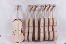 2pcs 4/4 violin unfinished Flame maple back Unglue Russian spruce top Yinfente