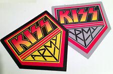 KISS ARMY 2x VINYL STICKER LOGO LOT (BLACK/GREY) - MINT!! not lp cd poster