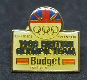 1988 British Olympic Team sponsor lapel pin badge