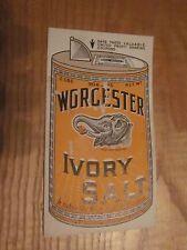 vintage Worcester Ivory Salt trade card United Profit Sharing Coupons