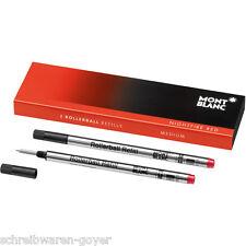 Tintenrollermine Montblanc M verschiedene Farben wählbar 2-er  Rollerball Refill