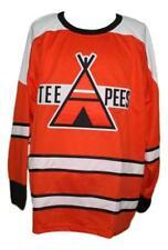 Custom Name # St Catharines Teepees Retro Hockey Jersey New Orange Any Size