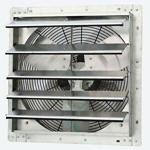 iLiving ILG8SF18V 18 Inch Variable Speed Wall Mounted Steel Shutter Exhaust Fan