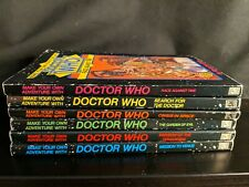 Lot of 6 Doctor Who 1986 Science Fiction Make Your Own Adventure Books Cyoa