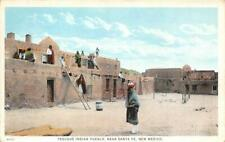 Tesuque Indian Pueblo, Near Santa Fe, New Mexico c1920s Vintage Postcard