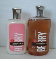 Pc Bath & Body Works Signature Vanillas Berry Set Body Lotion Shower Gel Lot