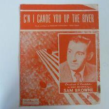 Hoja de la canción C 'n Me canoa que el río Sam Browne 1950