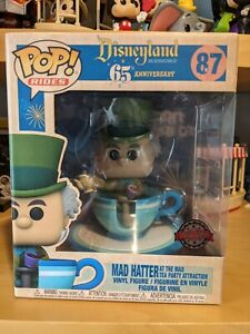 Funko Pop Rides #87 Mad Hatter at the Mad Tea Party Attraction Disneyland 65th