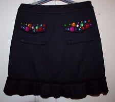 BN Beautiful Designer SONIA RYKIEL Girls Black w/Colored Stones Skirt  Size 12 Y