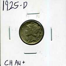 New listing 1925-D 10C Mercury Winged Liberty Head Dime in Choice Au+ Condition #01856