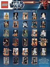 LEGO Star Wars Poster 2012 Thema Minifiguren Leila Obi-Wan Kenobi R5-F7 Jek Arc