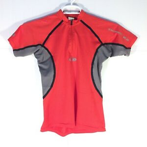 Salomon Women's Small Running Cycling Short Sleeve Shirt 1/4 Zip Active Top Red