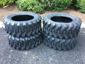 4 NEW 10-16.5 Skid Steer Tires Camso sks332 - For Case, New Holland & more