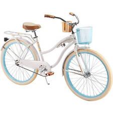 "Womens Beach Cruiser Bike 26"" Bicycle Vintage Single Speed Basket Rack Huffy"