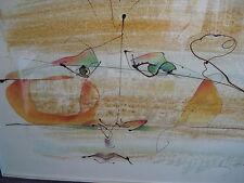 Original 1976 GERRIT GREVE Artist Signed Drip-Line Painting: Abstract Portrait