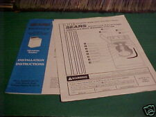 1994 SEARS KENMORE # 25861 WASHER MANUAL INSTRUCTIONS