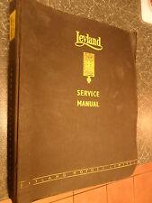 LEYLAND SUPER COMET WORKSHOP MANUAL 14 16 SCT TILT CAB 1966 0370 0400 FACTORY