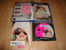 SINGSTAR '80S EDICION SIN MICROS PARA LA SONY PLAY STATION 2 PS2 USADO COMPLETO