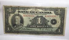 1935 Canada One Dollar Note