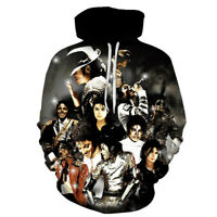 Michael Jackson 3D Sweatshirt Hoodie Pullover Casual Sweater Long Sleeves Tops