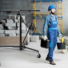 Drywall Lifter 11ft Panel Hoist Jack Rolling Caster Construction Lockable 150lbs