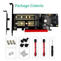 NVME SATA SSD to PCI-E 4X PCIE 3.0 4.0 and SATA3 Adapter Converter Riser Card
