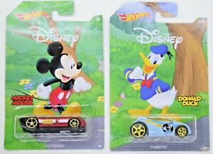 NEW! Hot Wheels 2017 Disney 90-Years Mickey Mouse & Donald Duck