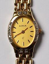 Auria Quarz Damenuhr Armbanduhr 14 Karat 585 Gold Gelbgold 20 Brillanten 32,21 g
