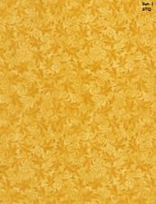 Filigree Echo Tonal cotton fabric BTY Timeless Treasures Golden Sun Yellow