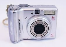 Canon PowerShot A550 7.1MP Digital Camera - Silver