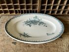 Antique Vintage French Transferware Serving Plate - Ste Amandinoise Earthenware