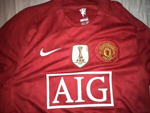 Retro 2008 Manchester United Ronaldo #7 Champions League Final Long Sleeve Large