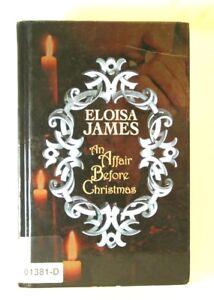 AN AFFAIR BEFORE CHRISTMAS Eloisa James LARGE PRINT Edition Hardcover BOOK