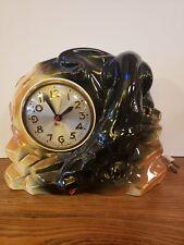 VTG Mid Century Black Panther Ceramic Sessions Clock