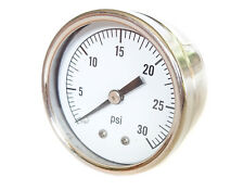 Stainless Steel Pressure Gauge 0/30 PSI 50mm 1/8 BSP Rear Connection