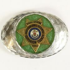 Belt Buckle, Jefferson County, Colorado Vtg Director of Civil Defense Badge