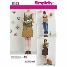 Simplicity 8153 Paper Sewing Pattern Misses' 6-24 Dottie Angel Slip Dress Top