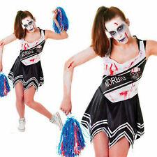 Damen Halloween Zombie Cheerleader Erwachsene Kostüm Kostüm Neu