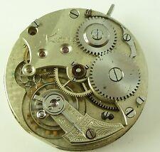 Unusual 36mm High Grade Swiss Pocket Watch Movement - Serial # 47067